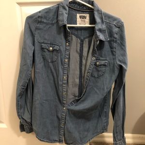 Levi's denim button up